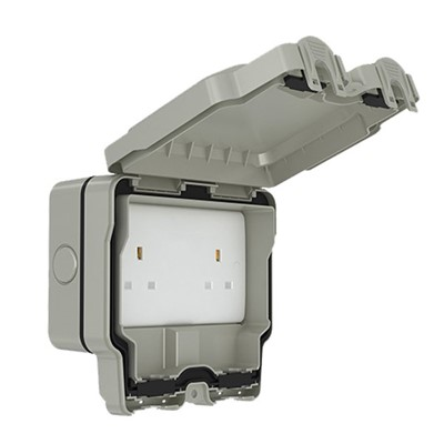 13A 2G UNSWITCHED SOCKET IP66